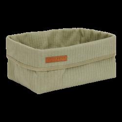 Panier pour ranger les affaires de bébé, vert coton bio-detail