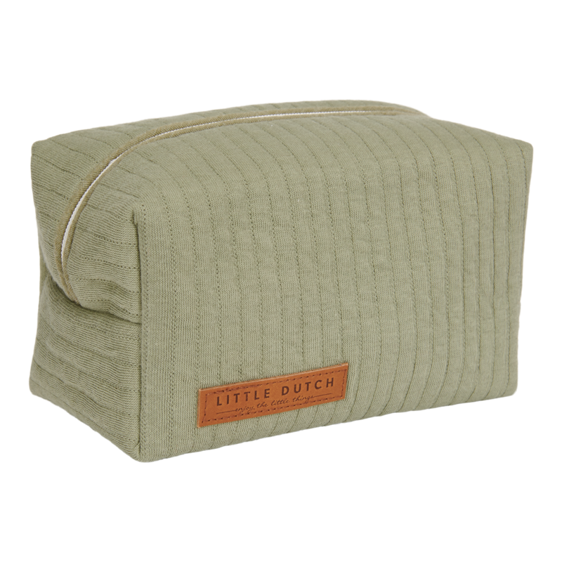 Trousse de toilette coton bio verte Little dutch