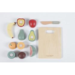 Fruits en bois à découper-detail