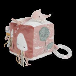 Cube en tissu d'activité Ocean pink Little Dutch-detail