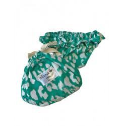 Bikini vert léopard pour poupée Paola Reina-detail