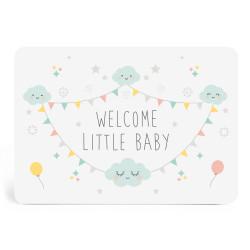 Carte welcome little baby mixte zu-detail