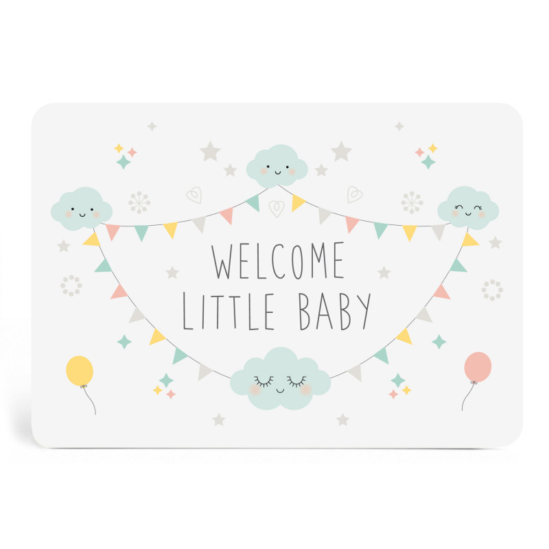 Carte welcome little baby mixte zu