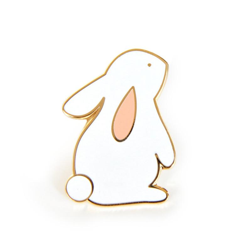 Pin's lapin eugène blanc zu
