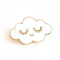 Pin's nuage blanc émaillé zu-detail