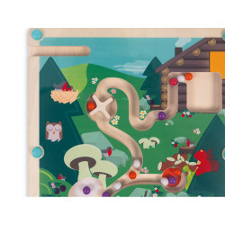 Labyrinthe a bille en bois enfant-detail