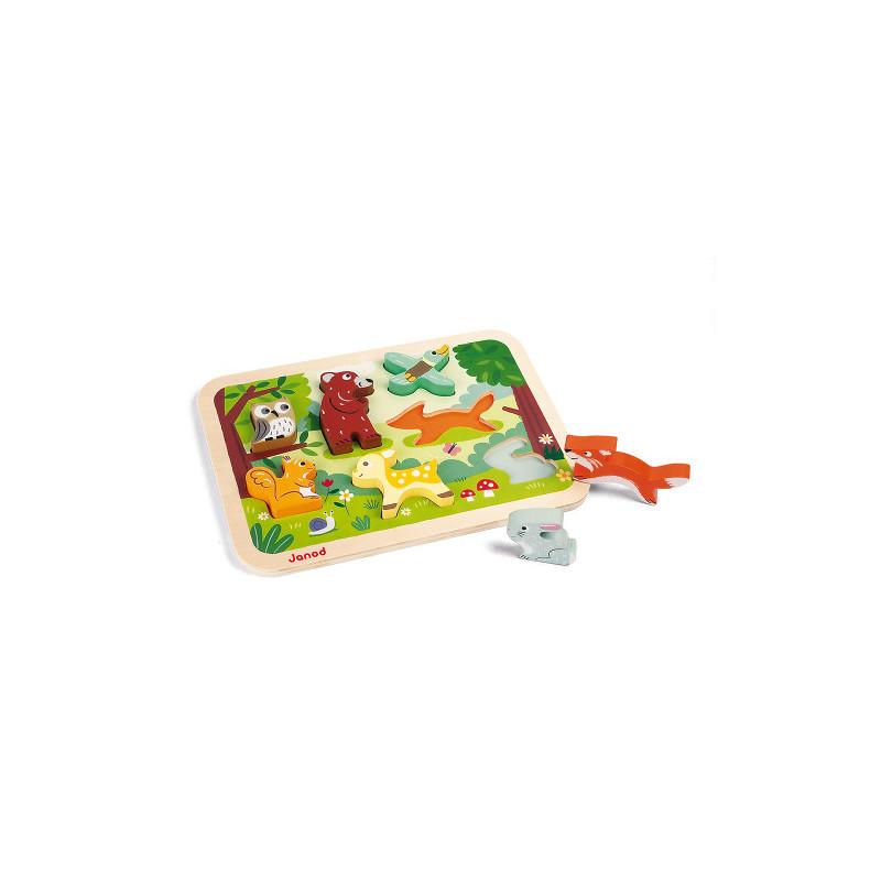 Petit puzzle en bois animaux Janod