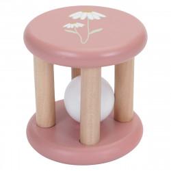 hochet en bois rose little dutch-detail