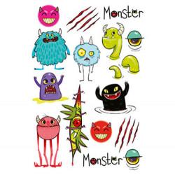Plaquette tatouages enfants monstres-detail