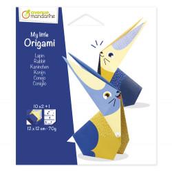 Petit origami lapin avenue mandarine-detail