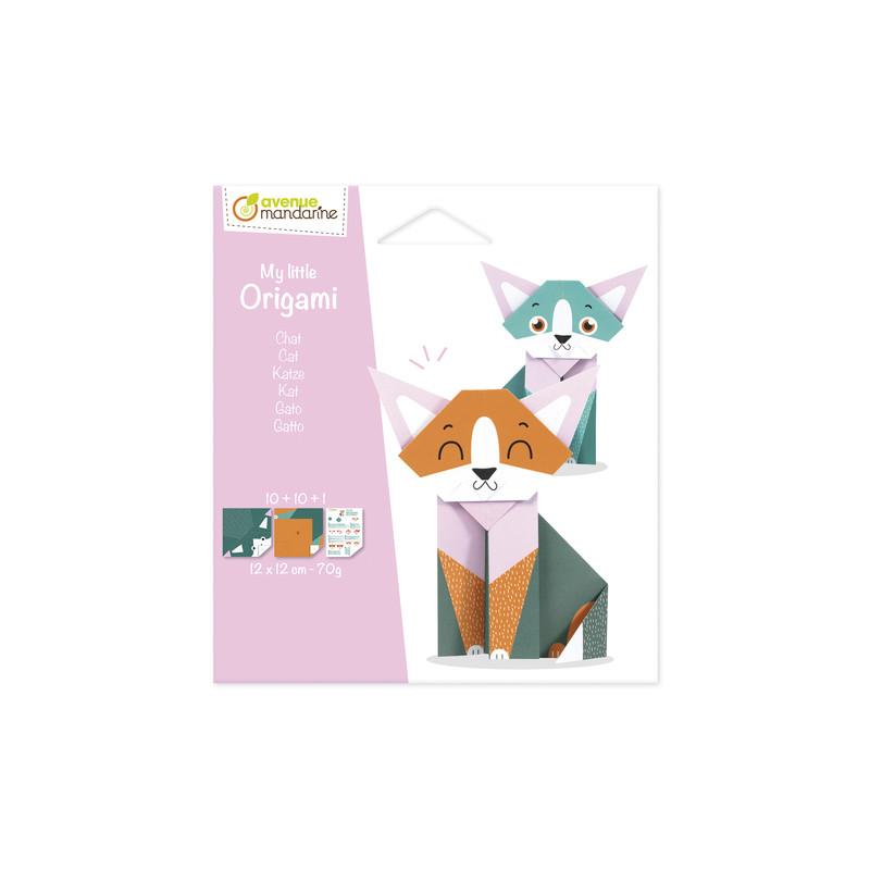 petit origami chat, avenue mandarine