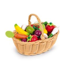 Panier en osier de fruits et légumes-detail