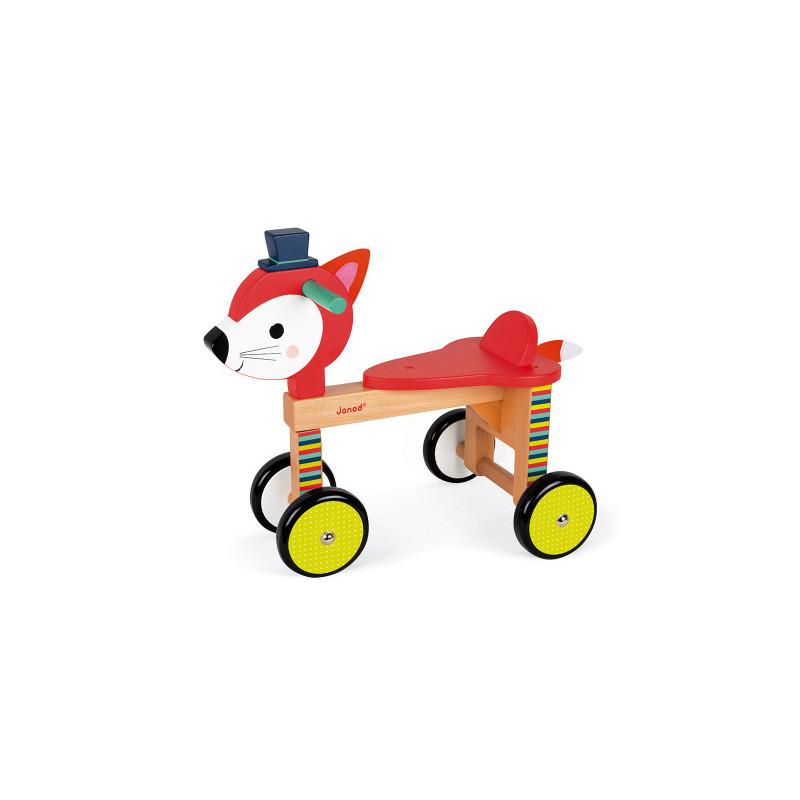 Porteur renard sur roue baby forest