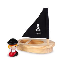 Capt'ain Melo et son navire en bois de la marque Janod-detail