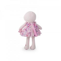 Jolie poupée en tissu rose et violette-detail