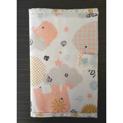 housse pour carnet de santé faite main tissus éléphant-detail